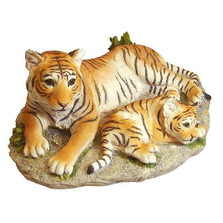 Tiger and Baby Tiger Sculpture