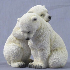 Polar Bear Cubs Sculpture