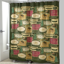 Rather be Fishing Shower Curtain & Hooks Set