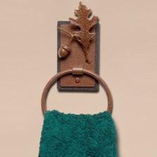 Oak Leaf & Acorn Towel Ring