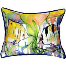 Angelfish Indoor Outdoor Pillow 20x24
