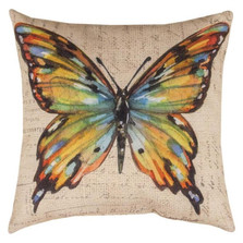Butterfly Multicolor Indoor/Outdoor Pillow