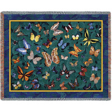 Butterfly Dance Woven Throw Blanket