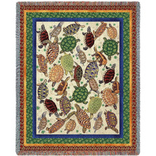Turtle Tapestry Throw Blanket