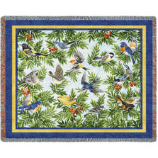 Songbird Woven Throw Blanket | Pure Country | pc1219T