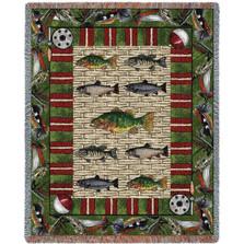 Gone Fishing Fisherman Throw Blanket