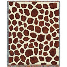 Giraffe Print Woven Throw Blanket