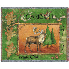 Caribou Woven Throw Blanket