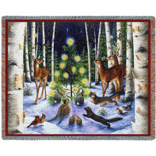 A Simple Tree Holiday Tapestry Throw Blanket