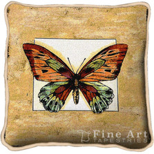 Butterfly Dragonfly II Throw Pillow