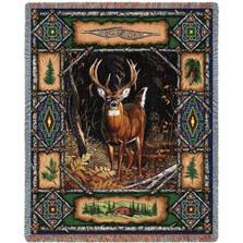 Deer Lodge Tapestry Throw Blanket