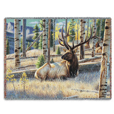 Morning View Elk Woven Throw Blanket
