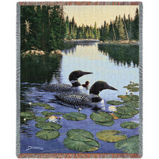 Loon Throw Blanket Enchanted Passage