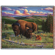 Buffalo Nation Woven Throw Blanket