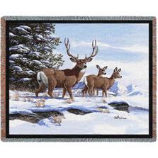 Mule Deer Woven Throw Blanket