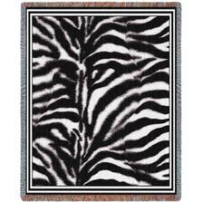 Zebra Print Tapestry Throw Blanket