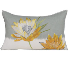 "Flower Embroidered Pillow ""Nefertiti"""