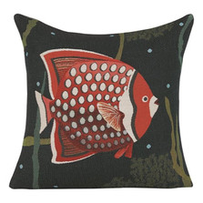 "Fish French Tapestry Pillow ""Juan"""