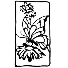Butterfly with Flowers Metal Wall Art | BCA71
