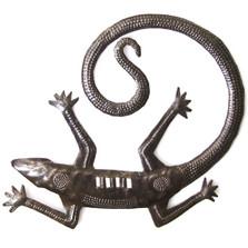 """Gecko Metal Wall Sculpture 12"""""""
