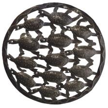 Bale of Turtles Metal Wall Sculpture