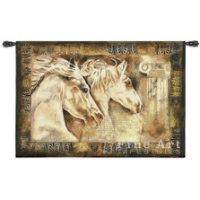 Messengers of Spirit Horse Tapestry Wall Hanging