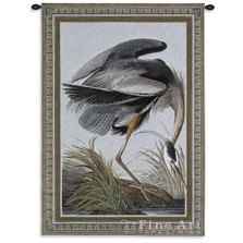 Great Blue Heron Tapestry Wall Hanging