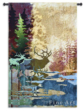Elk Tapestry Wall Hanging Ghosts of the Tall Timber
