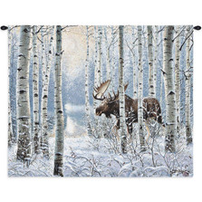 Moose On The Move Tapestry Wall Hanging