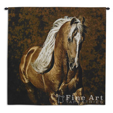 Golden Boy Palomino Horse Tapestry Wall Hanging