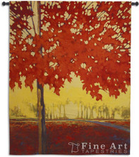 Fire Maple Tapestry Wall Hanging