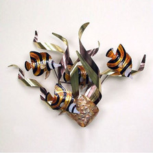 Angelfish Mardi Gras Wall Sculpture