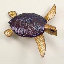 Copper Sea Turtle Wall Sculpture