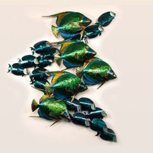 Angelfish and Tang Metal Wall Sculpture