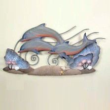 Dolphin Trio Wall Sculpture | TI Design | CW154np