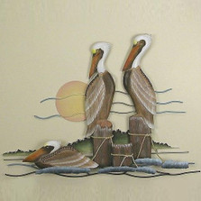 Pelican Trio Wall Sculpture | TI Design | TICW165