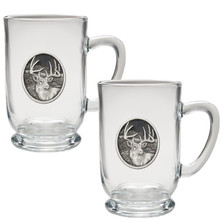 Whitetail Deer Coffee Mug Set of 2 | Heritage Pewter | HPICM209CL