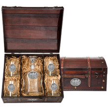 Wolf Capitol Decanter Chest Set