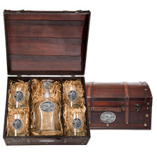 Eagle Decanter Chest Set   Heritage Pewter   HPICPTC109