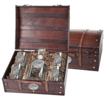 White Rhino Capitol Decanter Chest Set