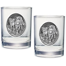 Wolf Double Old Fashioned Glass Set of 2
