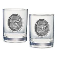 Buffalo Double Old Fashioned Glass Set of 2