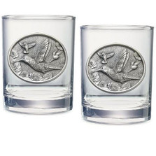Hummingbird Double Old Fashioned Glass Set of 2