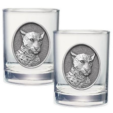 Leopard Double Old Fashioned Glass Set of 2