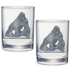 Gorilla Double Old Fashioned Glass Set of 2