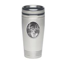 Whitetail Deer Thermal Travel Mug | Heritage Pewter | HPITD209