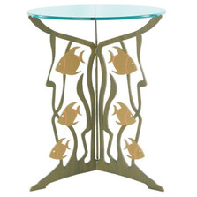 Fish Glass Top Table