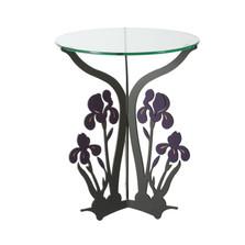 Iris Glass Top Table