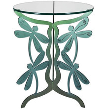 Dragonfly Glass Top Table