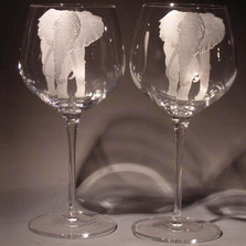 Elephant Crystal 18 oz Wine Glass Set of 2